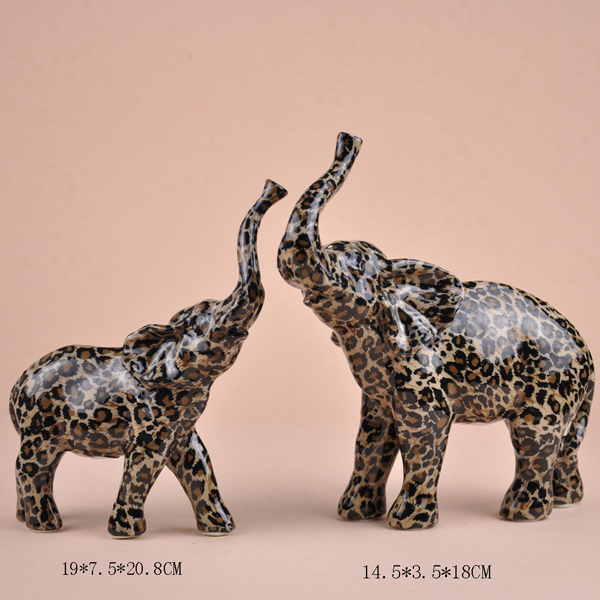 50% off European and American SAFARI produced new home / housewarming gift leopard dots elephant mother and decorations(China (Mainland))