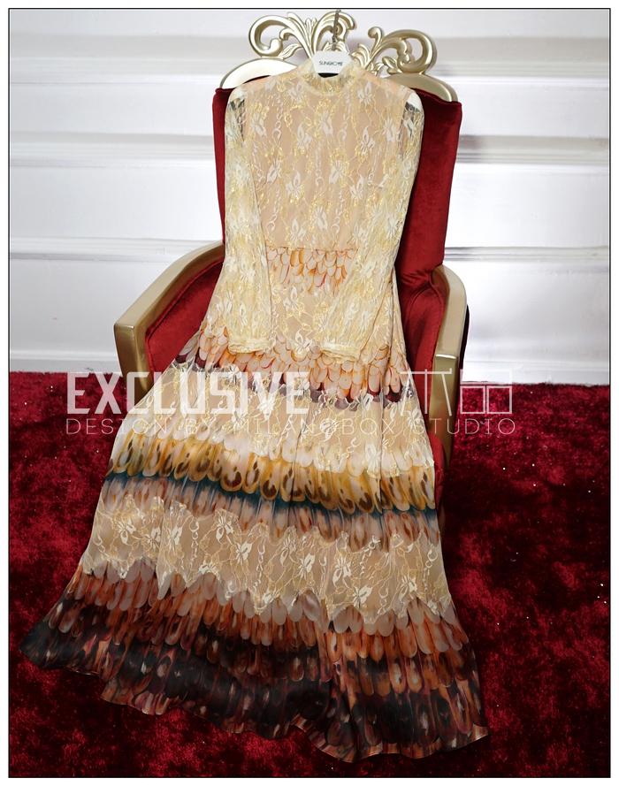 2016 New Europe Palace Style Gold Lace Stitching Organza Dress Silk Print Dress Big Swing DressОдежда и ак�е��уары<br><br><br>Aliexpress