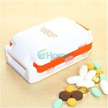Portable Mini Sort Folding Vitamin Medicine Drug Container Pill Box Storage Case#57604