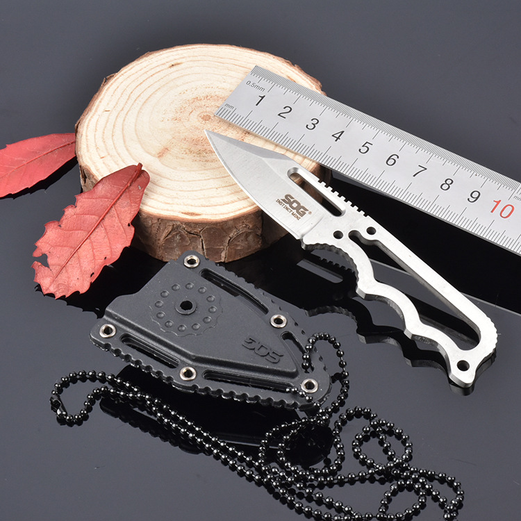 Necklace Knife SOG Fixed 5CR15MOV Blade Knife With ABS Sheath Camping Survival Knives Hunting Tactical Knifes Outdoor Tools K138(China (Mainland))