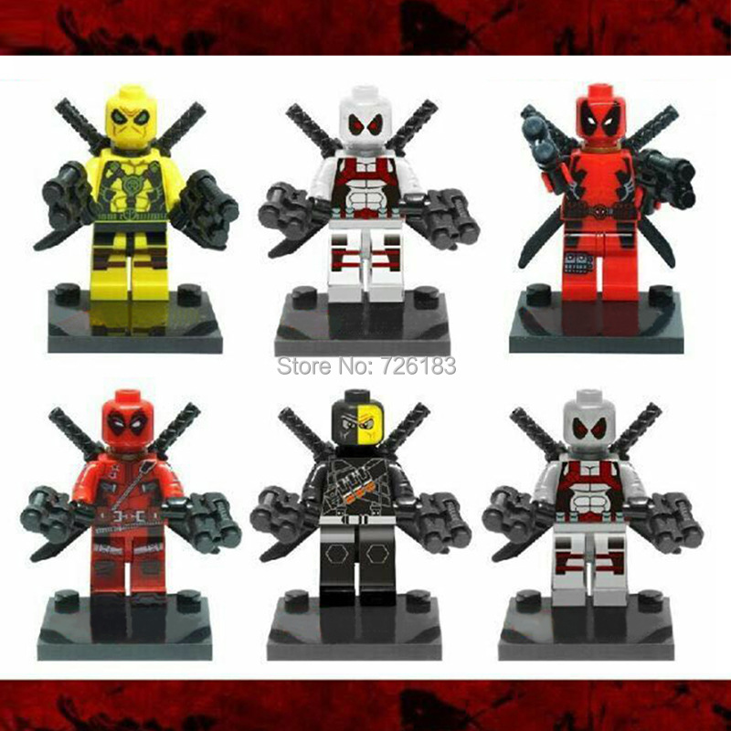 Kids Toys Super Heroes Avengers Deadpool Single Sale Minifigure Building Blocks Toy For Children Compatible With Lego<br><br>Aliexpress