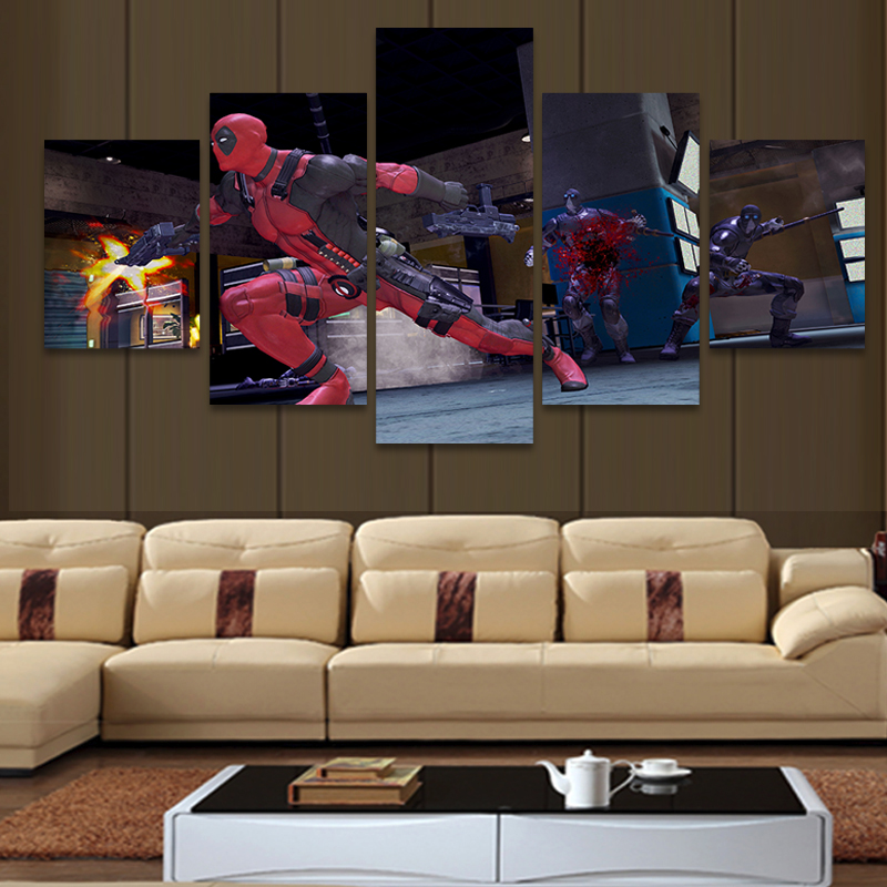 Decoration for living room picture more detailed picture about 5 piece modern hd printed - Home decoration wholesale paint ...