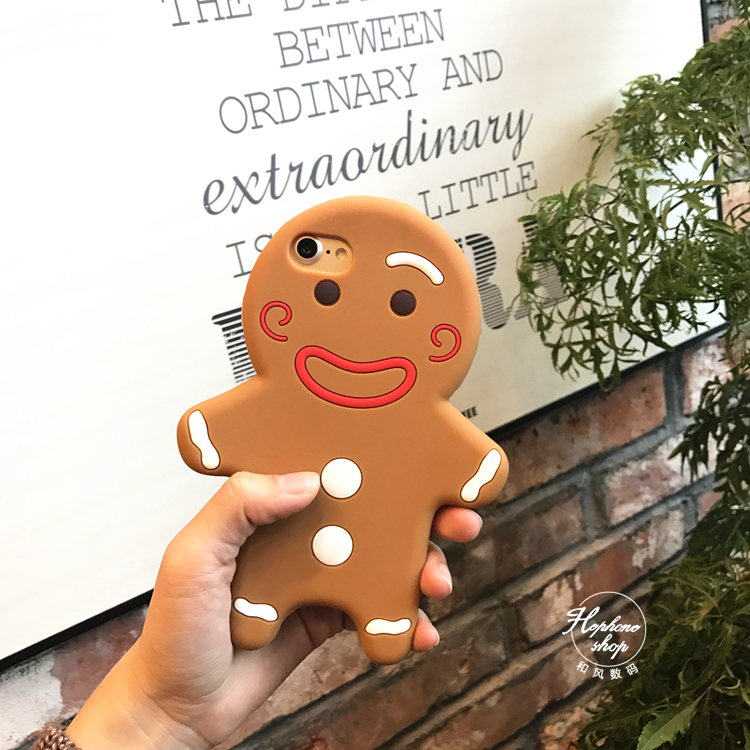 Korean gingerbread doll doll for iphone7plus mobile phone shell Apple 6splus silica gel all-inclusive soft shell(China (Mainland))