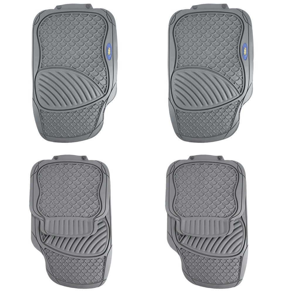 Vauxhall zafira rubber floor mats - 4 Piece Car Rubber Floor Mat Car Styling The Four Seasons General Driver Seat Ridged Water Resistant Antiskid Rubber Floor Mat
