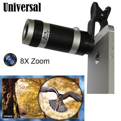 Universal self-timer 10X Focus Telephoto Clip On Camera Lens Telescope for iPhone Samsung All phone(China (Mainland))
