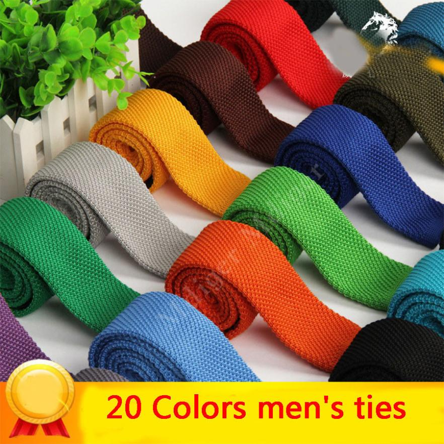 Fashion Men's Woven Solid Color Knitted Skinny Tie Neckties For Men Brand Wedding Formal Business Knit Corbatas Vestidos Cravat(China (Mainland))