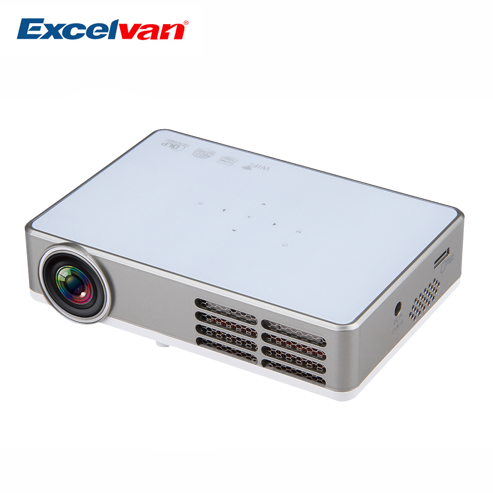 Excelvan LED9 3D Android4.2 Projector DLP WIFI Wireless Projector 1280*800 Home Theater 2D Convert To 3D Mini Portable Projector(China (Mainland))