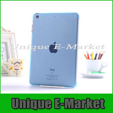 Freeshipping 1 Pc/lot Crystal Hard Back Protective Case Cover Shell Sleeve For iPad Mini Multi-Color(China (Mainland))