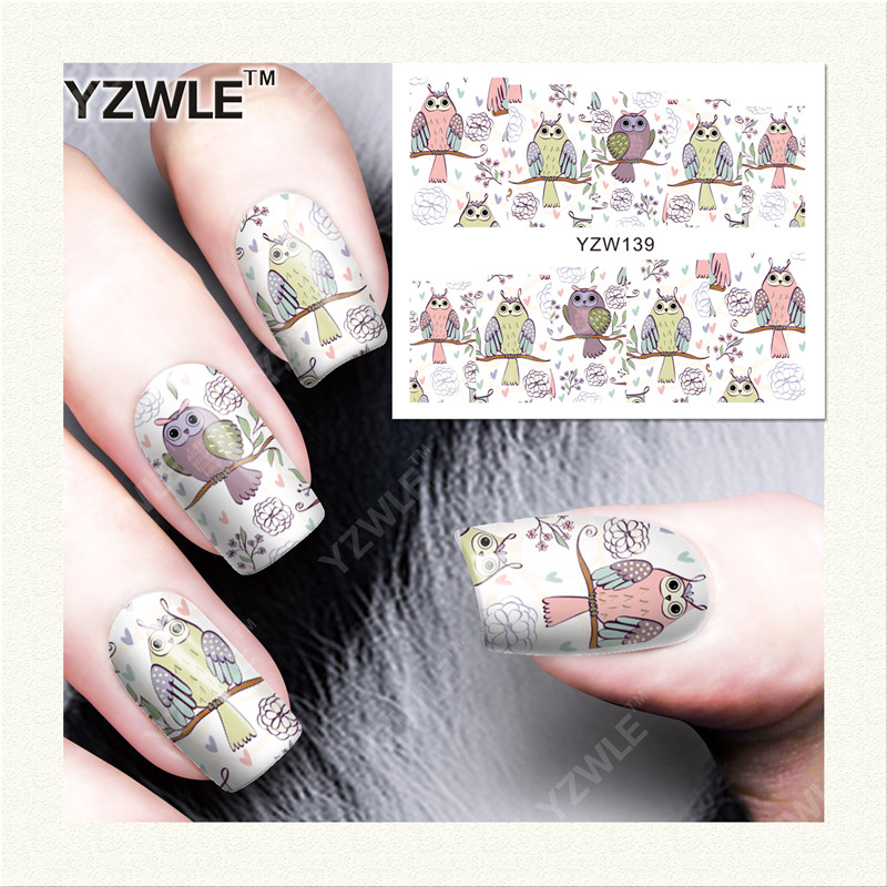YZWLE 1 Sheet DIY Designer Water Transfer Nails Art Sticker / Nail Water Decals / Nail Stickers Accessories (YZW-139)(China (Mainland))