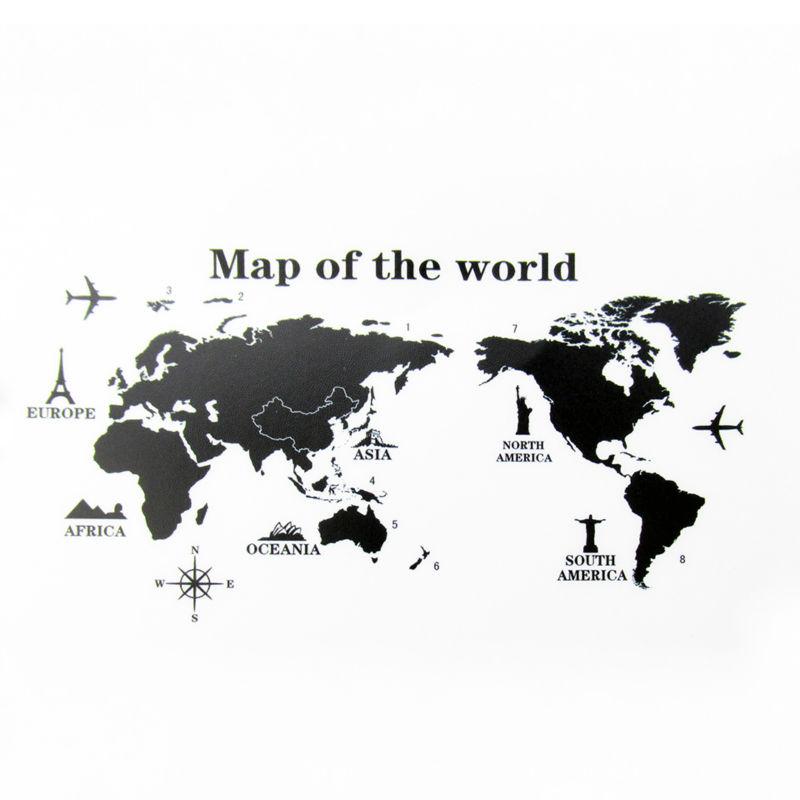 world map wall sticker WS019-1