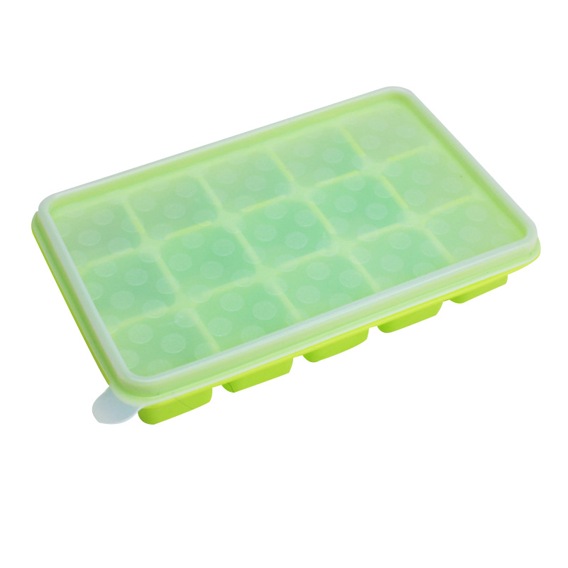 Infant Baby Food Supplement Storage Children Silica Gel 15 Lattice Box Container Ice Mould Kids Safe Portable Food Organizer