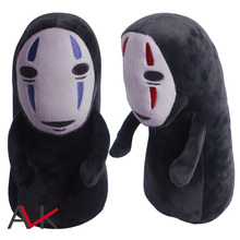 Unique SPIRITED AWAY Big faceless Man Black No Face Gost Plush Collectible Anime Character Chain Bag Toys Doll 28cm  have stock(China (Mainland))