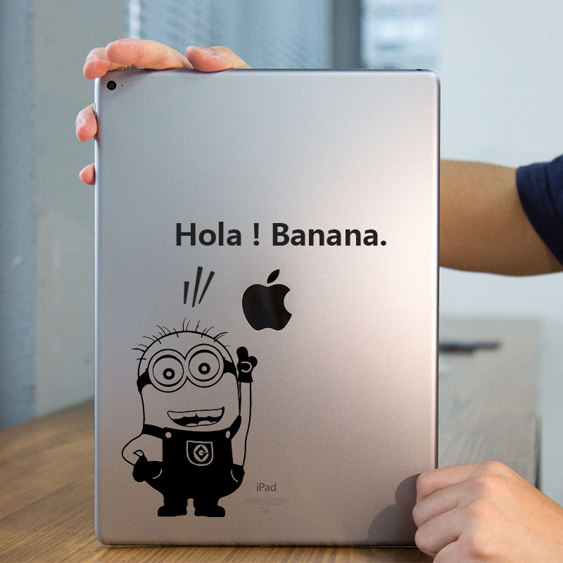 "Minions Humor Quote Cartoon Tablet PC Laptop Decal for iPad 1/2/3/4/Air/mini/Pro 7.9""/9.7""/12.9"" Vinyl Notebook Sticker Skin(China (Mainland))"