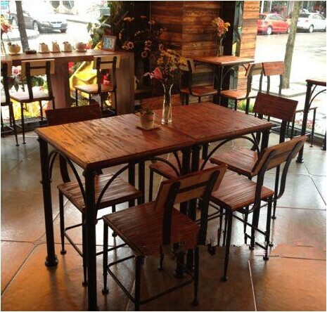 European retro restaurant tables wrought iron dining for Table cuisine 1 pied