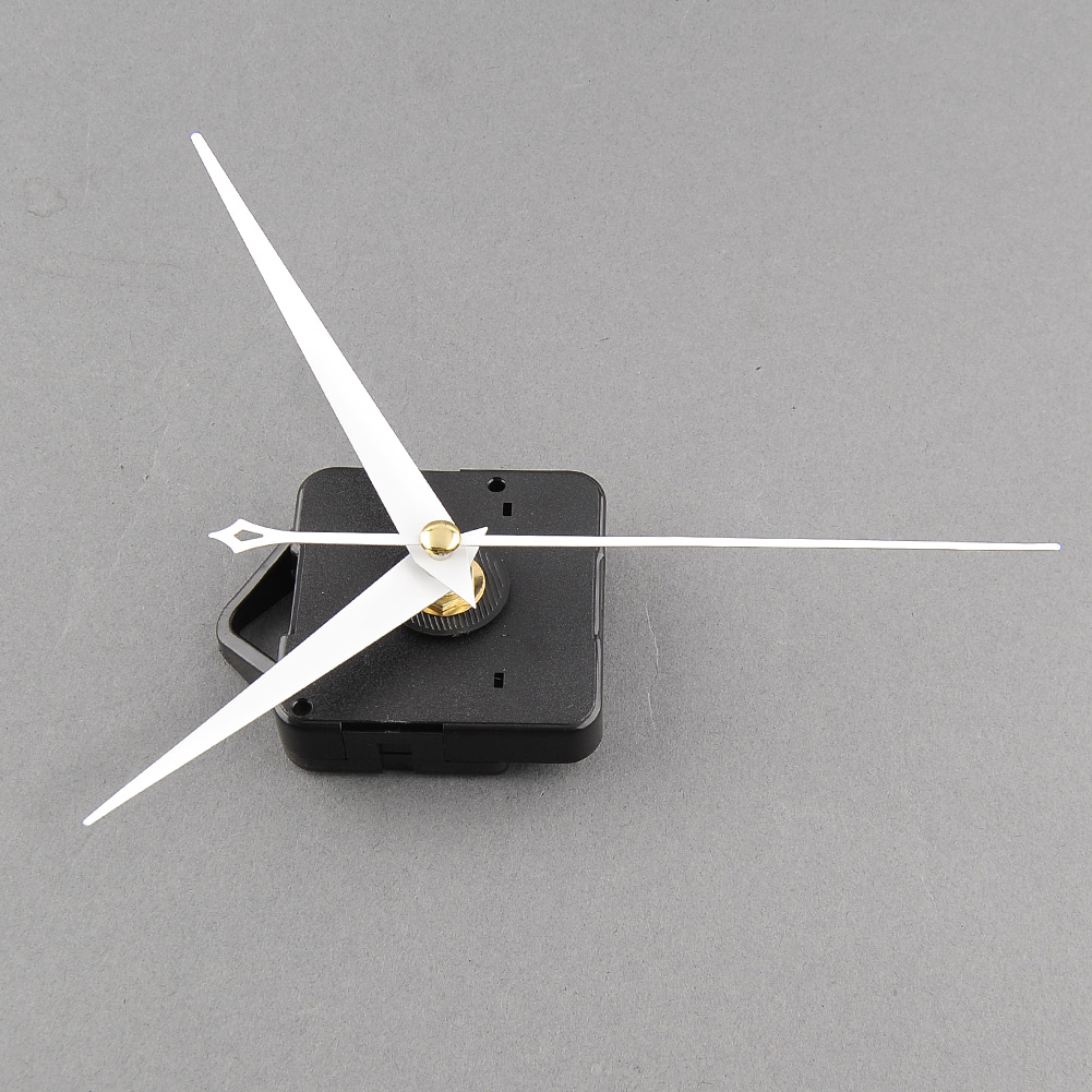 High Quality Useful Clock Movement Mechanism Parts Repairing DIY Replacement Tool Set with White Hands Silent Hot(China (Mainland))