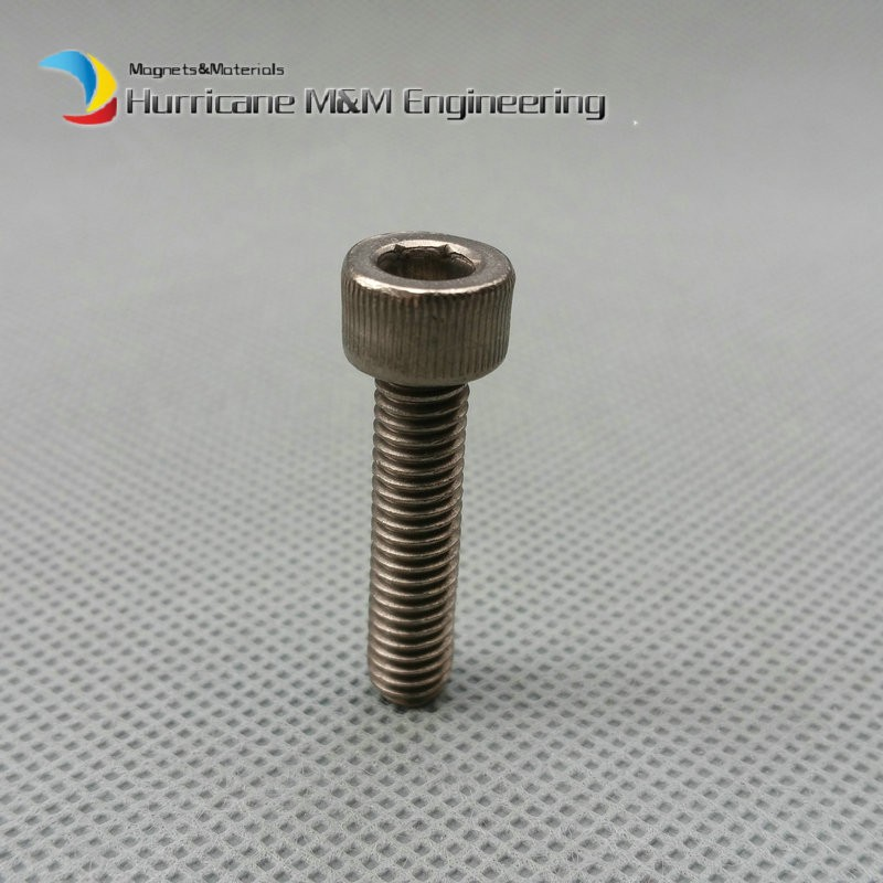 12 pcs M5 Ti Bolt M5x20 all lengths Titanium bolts original Ti color not polished Hexagon Socket titanium screws Ti fastener