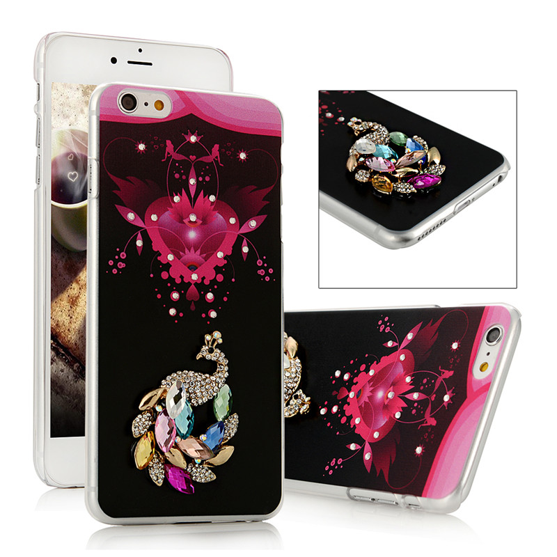 "Diamond Case For iPhone 6 Bling Christmas Tree Painted Protective Shell Cool Skull Rhinestone Hard Back Cover For iPhone6 4.7""(China (Mainland))"