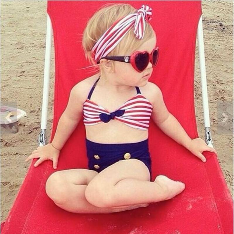 Cute Baby Girls Swimsuit Rain Bow Fringe String Bikini Swimwear Bathing Suit for Kid High Waist Swimwear Sea Biquini Infantils<br><br>Aliexpress