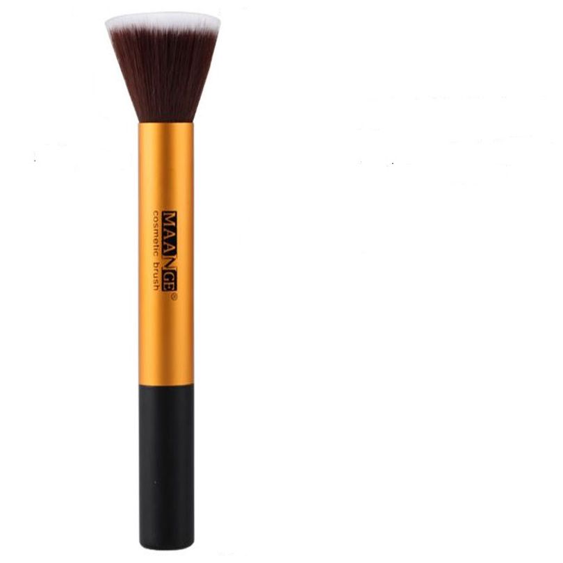 20161PCS New Large Single Flat Sgm Metal Handle Contour Grooming Makeup Tools Foundation Makeup Brushes In Selling GH16(China (Mainland))