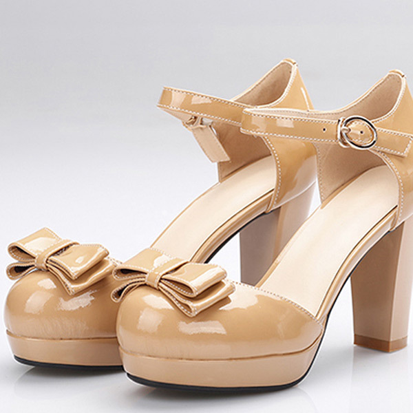 2015 summer new elegant solid buckle round-toe women pupms high heels women pupm Comfortable and breathable women shoesE2875<br><br>Aliexpress