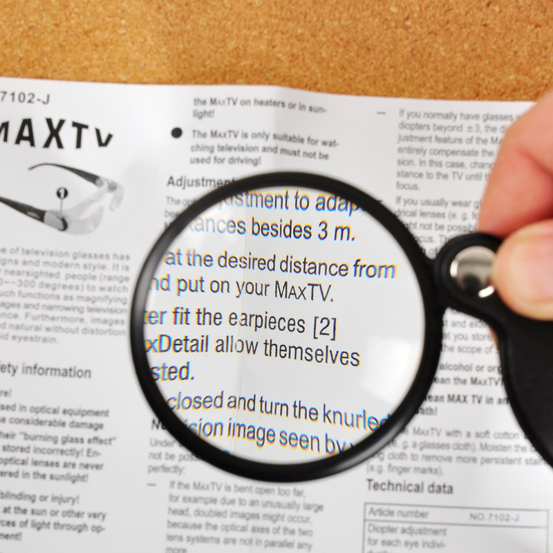 Beileshi 60mm  Magnifier  8X Magnification  Loupes   Reading Packet for Aid Magnifying
