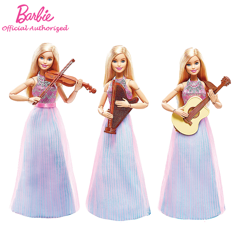 Barbie Original Brand Collection Doll Musician Girl Violin Accessories Toy Barbie Boneca Mode DLG94 Free Shipping(China (Mainland))