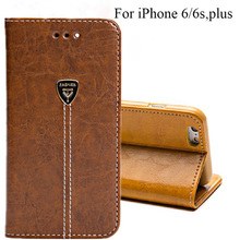 Smart Flip Case For iPhone 6S Case 4.7 & Plus 5.5 PU Leather Flip Back Cover For iPhone6S Magnetic Close Wallet Style Case