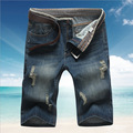 2016 summer style jeans men shorts large size 28 38 denim shorts for men fashion stright