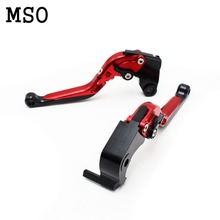 red motorcycle brake clutch lever foldable dirt bike cnc Suzuki GSXR 600 750 1000 K1 K2 K3 K4 K5 K6 K7 K8 - MSO Motorcycle store