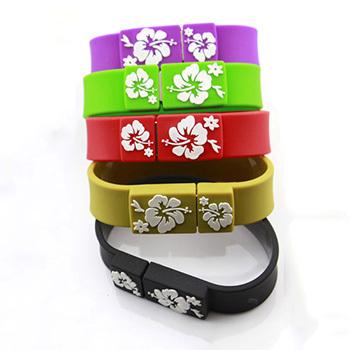 Popular 2G/4G/8G/16G/32G colorful bracelet usb drive plastic pen drive shape usb flash drive Free shipping wholesale(China (Mainland))