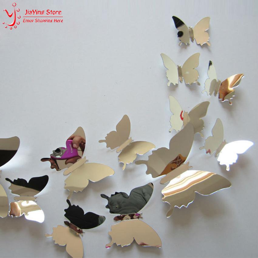 비행 나비 어린이 방 거울 벽 스티커 홈 장식 12 pcs/ 아기 ...