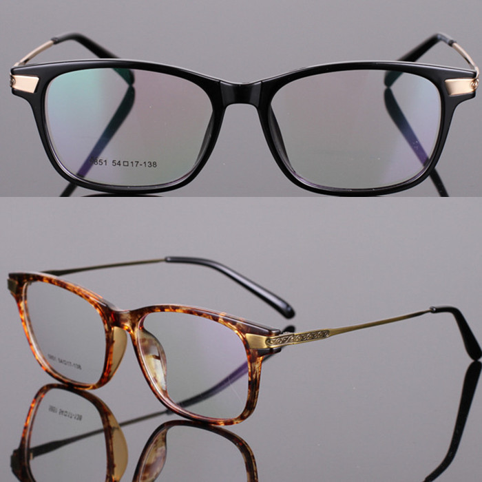 2015 The new optical frames, men's lightweight eyeglass frame metal legs, big box with a degree of myopia glasses(China (Mainland))