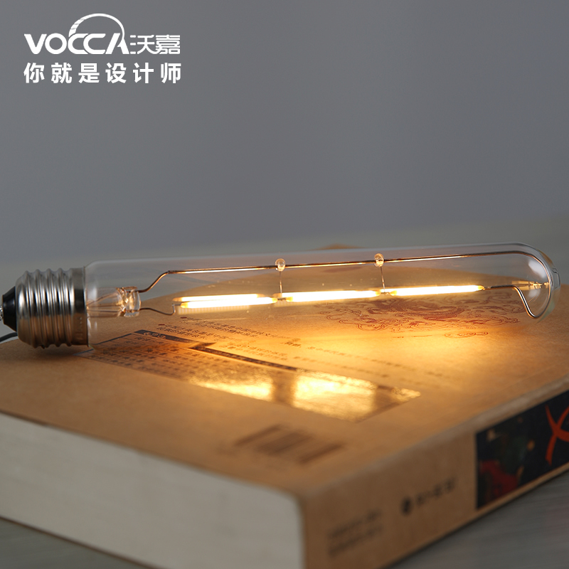 vocca lamp free shipping Wholesale American vintage Antique 3W LED T30-185 edison silk bulb Lamp E27 socket 220V/110V lamp(China (Mainland))