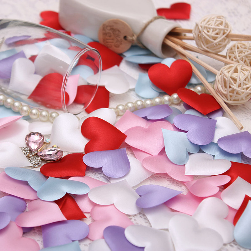 HOT!<1000PCS/lot> Wedding decoration throwing heart petals wedding table decoration valentines day decoration party supply(China (Mainland))