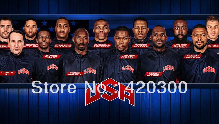 Wholesale 2012 Dream Team USA The Olympic Games Basketball Silk Printing Wall Poster 24 Inch(China (Mainland))