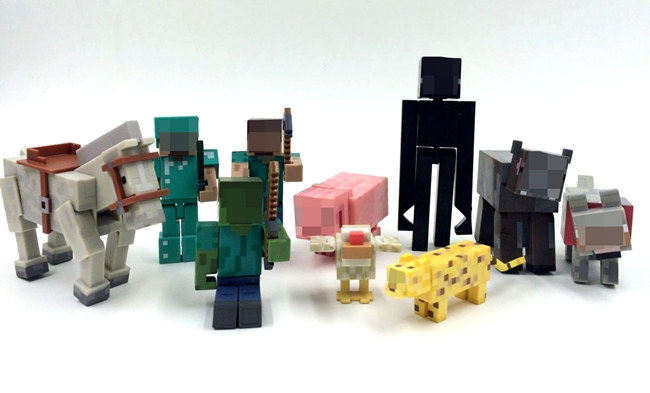 3-10cm Original juguetes minecraft toys Building Block Toys Assembly Toy PVC action figure(China (Mainland))