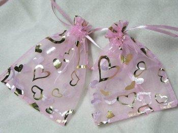 pink color   top selling  wholesale organza bag
