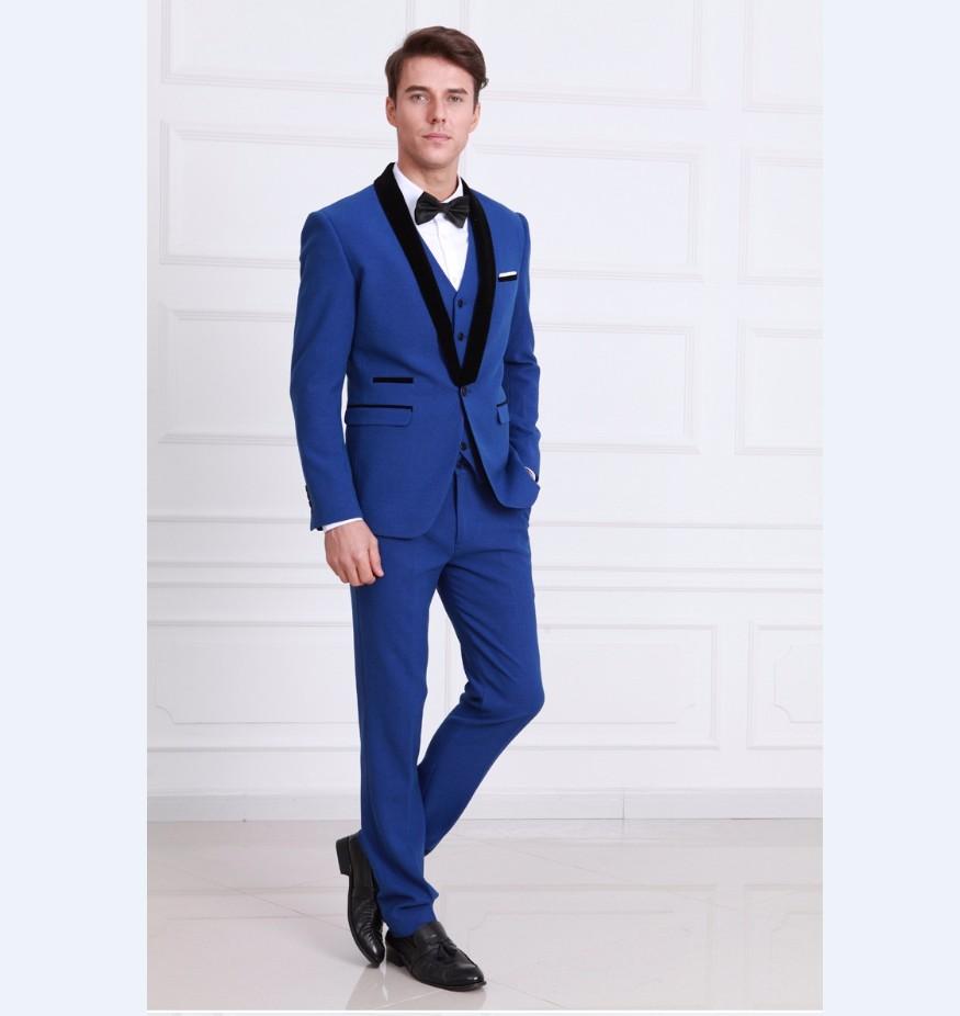 Bright Blue Pants Men