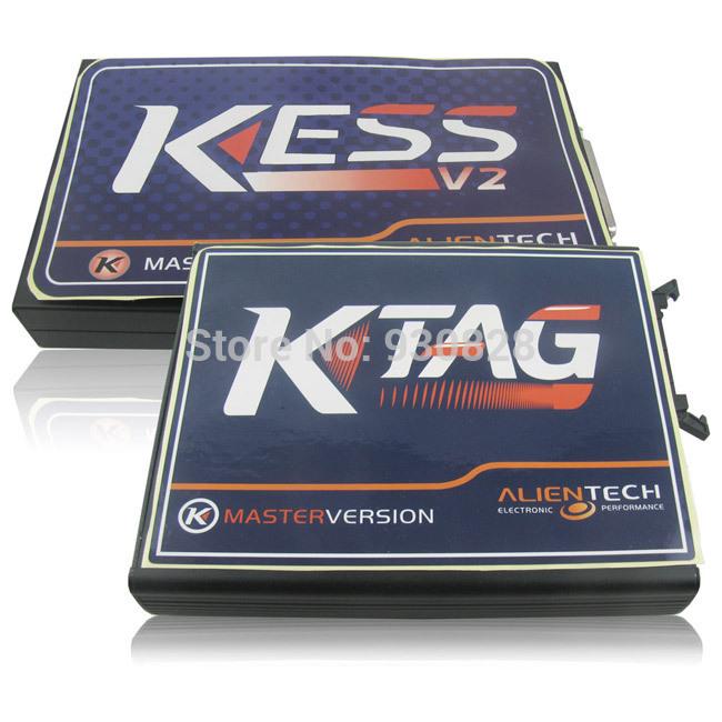Newest Ksuit V2.10 kess v2 OBD2 Manager Tuning Kit master+K-TAG KTAG ECU Programming Tool No token limit auto ecu programmer(China (Mainland))