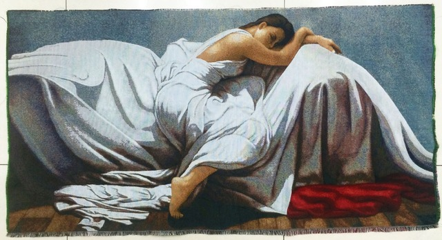 Free shipping big size famous classical art picture,DIY picture,Sleeping Beauty