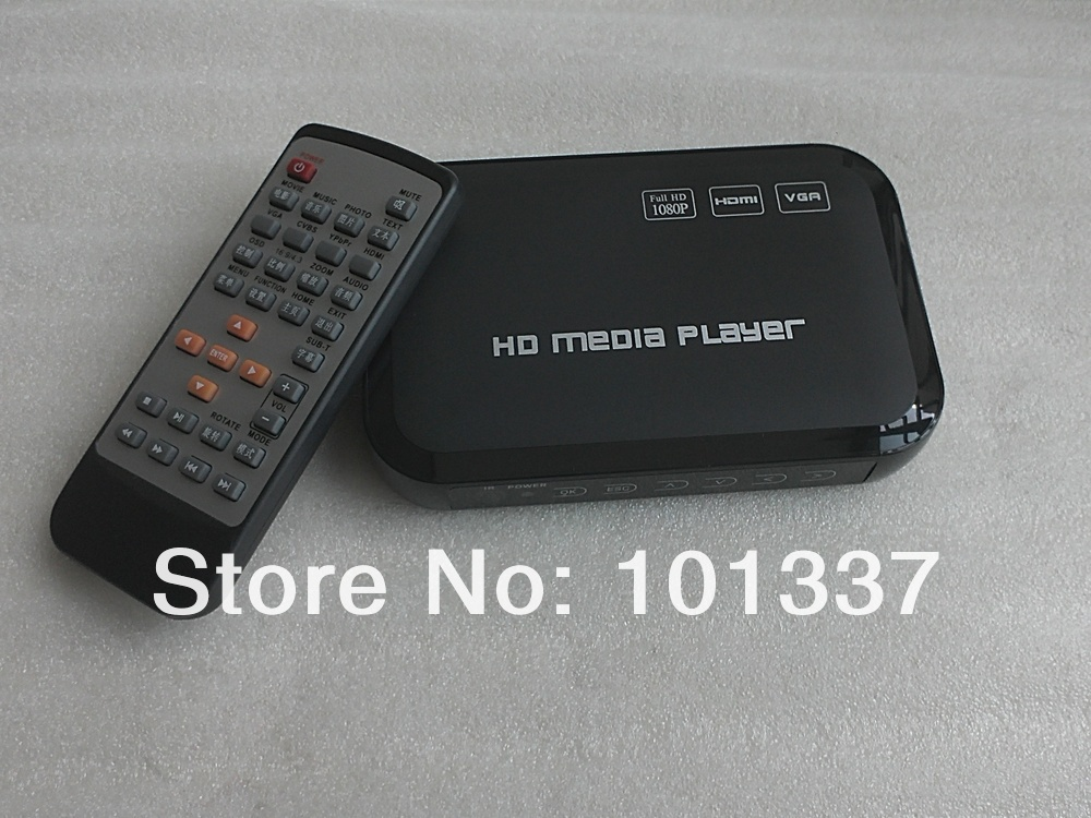 3D 1080P Full HD HDD Media Player SD/USB/HDD Output HDMI/AV/VGA/AV/YPbpr Support DIVX AVI RMVB MP4 H.264 FLV MKV Music Movie(Hong Kong)