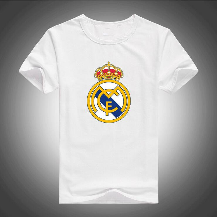 Tops T shirt men 2016 summer Reals Logo printed Custom Causalmens T-shirt Madrides free shipping 576(China (Mainland))