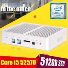 Fanless Barebone i5 Mini PC Windows 10 Broadwell Intel Core i5 5250U 4K HTPC Graphics HD 6000 Optical+2*Nics+2*HDMI+300M Wifi(China (Mainland))