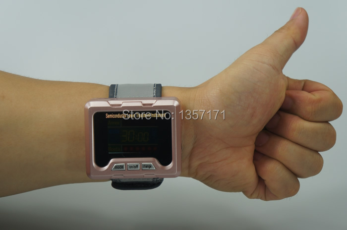 Low intensity laser therapy wrist watch infrared therapy for the old aged home care(China (Mainland))