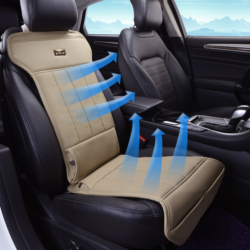 leather breathable cushion air conditioning electric ventilation fan summer car seat cushion. Black Bedroom Furniture Sets. Home Design Ideas