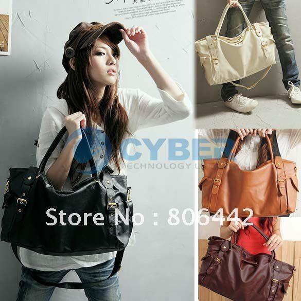 New Fashion Korean Style Lady Women bags PU Leather Shoulder tote Bag Fashion Satchels Women Handbags 53