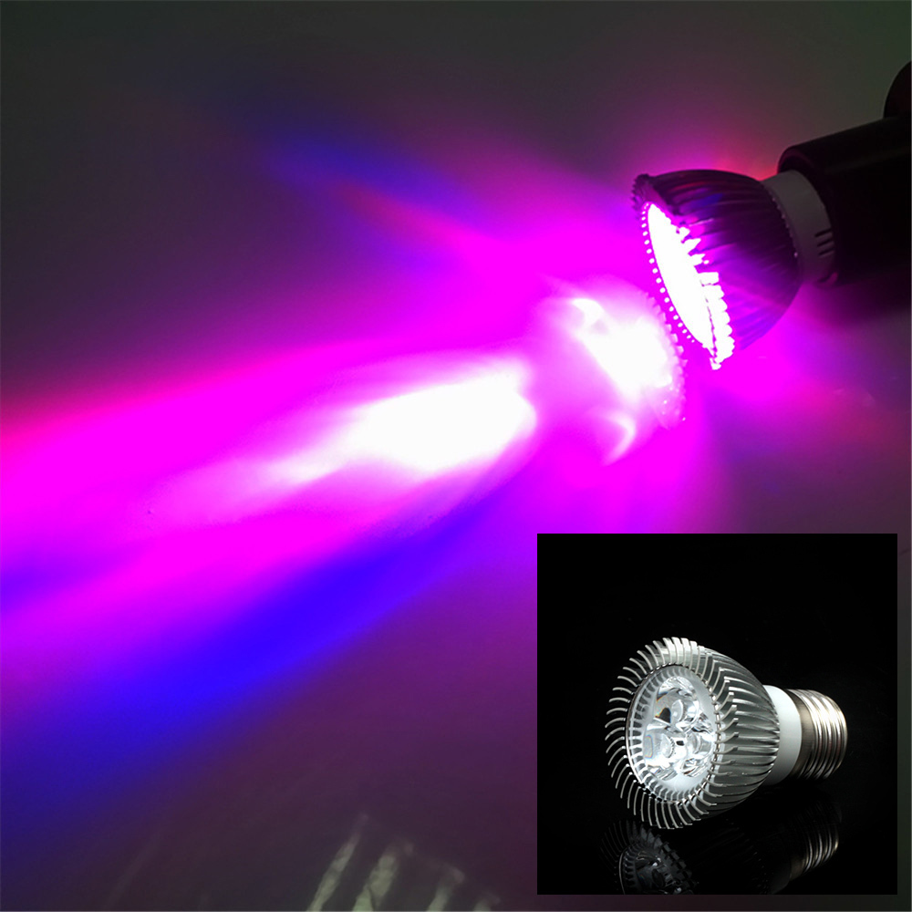 1piece AC85-265V 3*2W 6W E27 led grow light for flowering plant and hydroponics system
