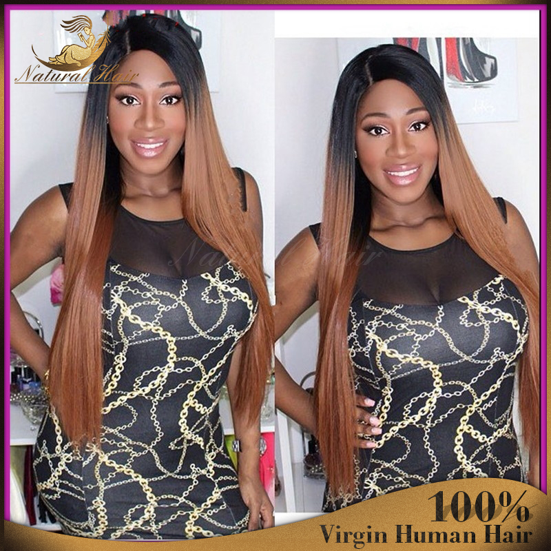 7a Glueless Ombre Lace Front Human Hair Wigs Ombre Full Lace Human Hair Wigs For Black Women Human Hair Middle Part Wigs