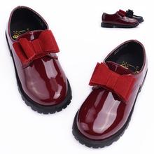 Mr baby2013 children shoes bow princess single shoes child leather single shoes child single shoes female(China (Mainland))