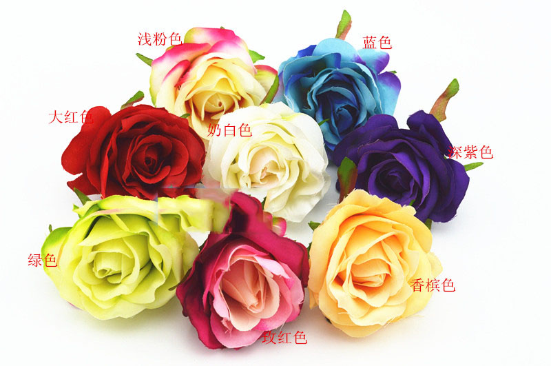 2016 artificial flowers Simulation rose silk flower bud heart fake rose garden roses decorated flower photographed props 7CM(China (Mainland))